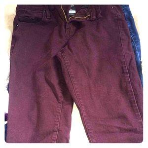 Purple degree jeans